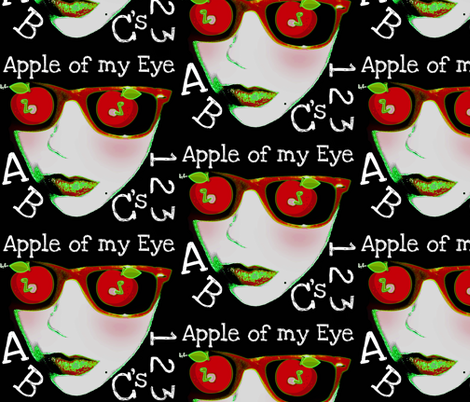 Apple of my Eye fabric by paragonstudios on Spoonflower - custom fabric