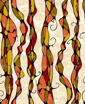 Elegent swerls - rusty rose