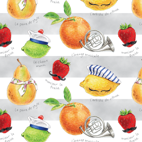 Frenchy Fruits fabric by pattysloniger on Spoonflower - custom fabric
