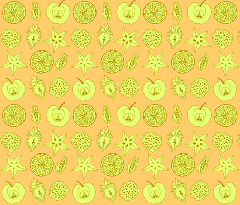 Ce n'est pas fruit fabric by jadegordon on Spoonflower - custom fabric