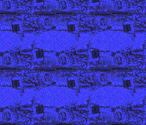 blue_tractor fabric by farrellart on Spoonflower - custom fabric