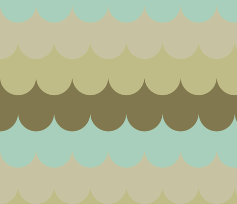 waves_green_and_aqua fabric by holli_zollinger on Spoonflower - custom fabric