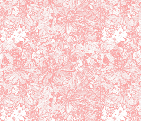 Pink Rhododendrons fabric by janetchristian on Spoonflower - custom fabric