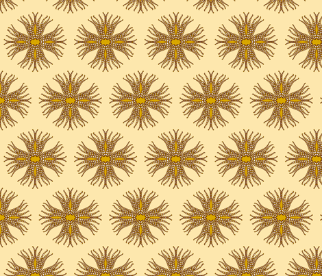 candy_cane_anemone_brown fabric by holli_zollinger on Spoonflower - custom fabric