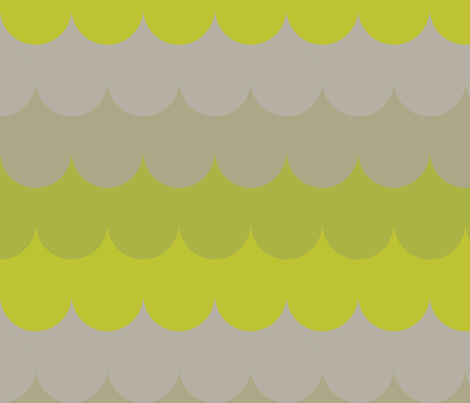 waves in lime fabric by holli_zollinger on Spoonflower - custom fabric