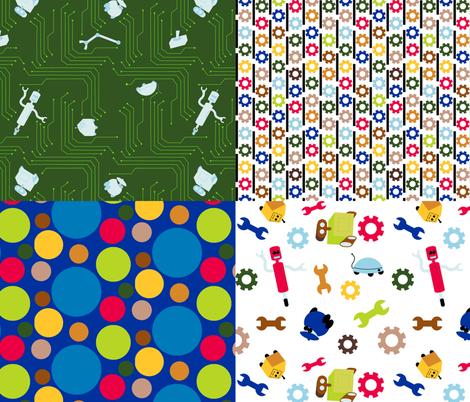 Zap Sampler 2 fabric by evenspor on Spoonflower - custom fabric