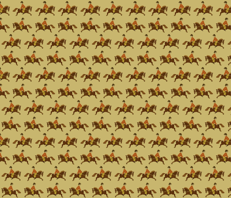 Horse and clown fabric by ravynka on Spoonflower - custom fabric