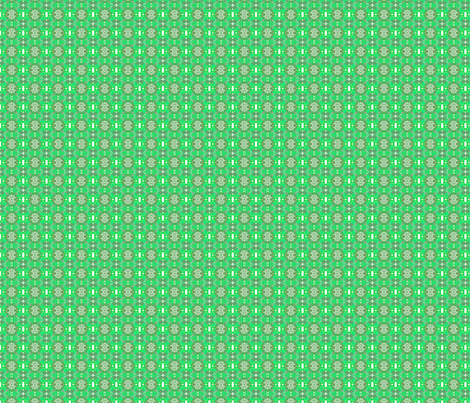 Snowflakes on Green fabric by robin_rice on Spoonflower - custom fabric