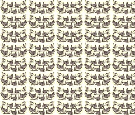 Heath-Hens' Breakfast fabric by robin_rice on Spoonflower - custom fabric