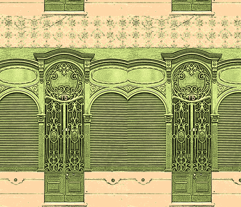 Lisbon Door fabric by paulamarie on Spoonflower - custom fabric