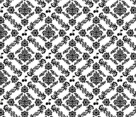Cherry Damask (biggest) fabric by lowa84 on Spoonflower - custom fabric
