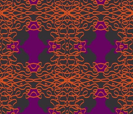 Jan's Halloween Bandana2 purple black orange fabric by jan4insight on Spoonflower - custom fabric