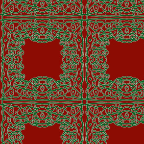 Jan's Holiday Bandana1 red green white