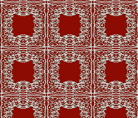 Jan's Holiday Bandanna1 red white green fabric by jan4insight on Spoonflower - custom fabric