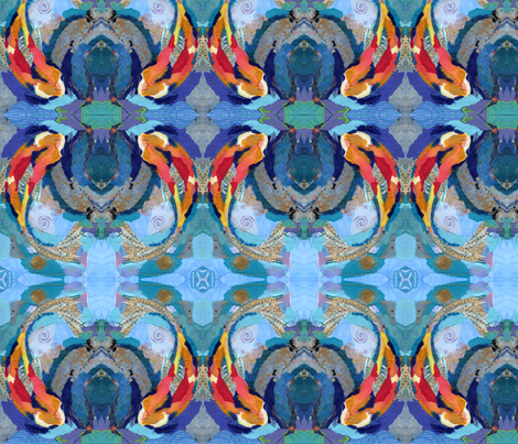 KOI fabric by tornpaperpaintings on Spoonflower - custom fabric