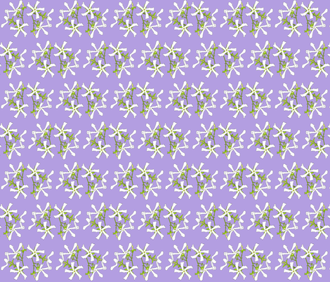 Purple Jasmine fabric by maeula on Spoonflower - custom fabric
