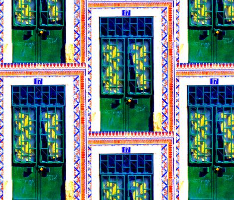 colorful doors fabric by paulamarie on Spoonflower - custom fabric
