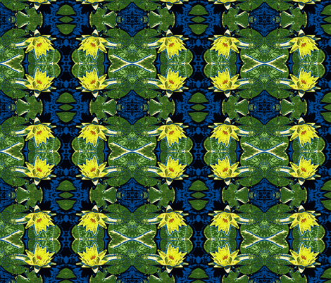 Water Lily Wonderland fabric by robin_rice on Spoonflower - custom fabric