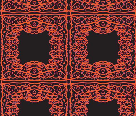 Jan's Halloween Bandanna1 black orange purple fabric by jan4insight on Spoonflower - custom fabric