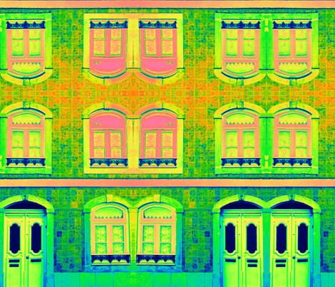 Crayon Box Doors and Windows fabric by paulamarie on Spoonflower - custom fabric