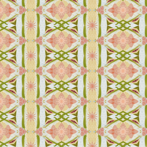Soft geo flower-leaves fabric by thatswho on Spoonflower - custom fabric