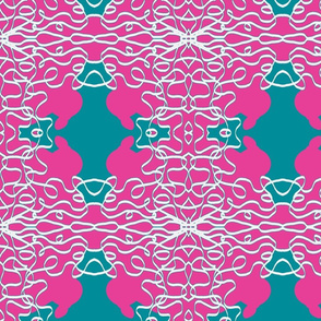 Jan's Bandanna2a fuchsia teal white