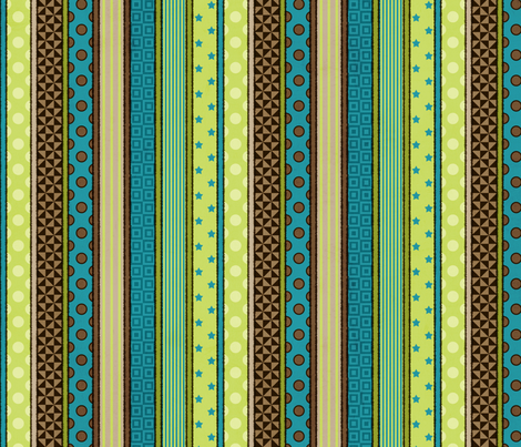 Rough& Tumble Patterned Stripe fabric by sarahb on Spoonflower - custom fabric