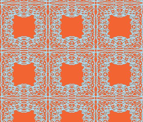 Jan's Summer Air Bandanna1 orange blue fabric by jan4insight on Spoonflower - custom fabric