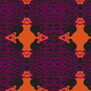 Jan's Halloween Bandana2 black orange purple