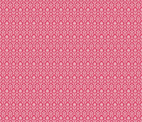 Pink Damask fabric by eskimokissez on Spoonflower - custom fabric