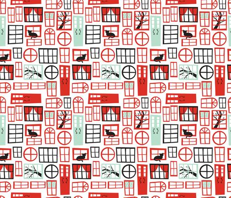 Doors & Windows fabric by acbeilke on Spoonflower - custom fabric