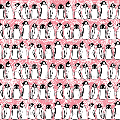 baby ice penguins pink