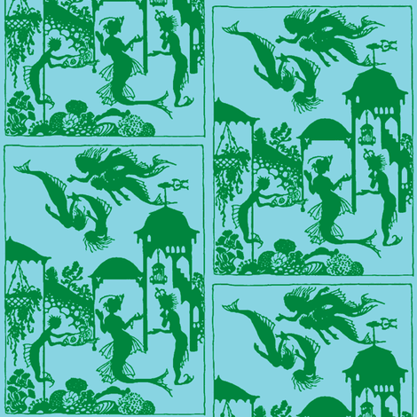 Mermaid Town Three fabric by nalo_hopkinson on Spoonflower - custom fabric