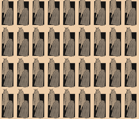 Vintage skirt pattern fabric by nalo_hopkinson on Spoonflower - custom fabric