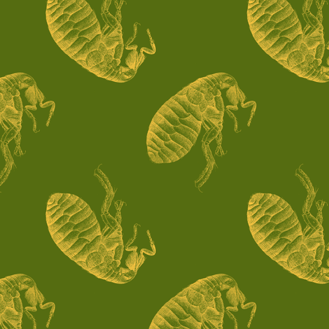 March of the Fleas, Too fabric by nalo_hopkinson on Spoonflower - custom fabric