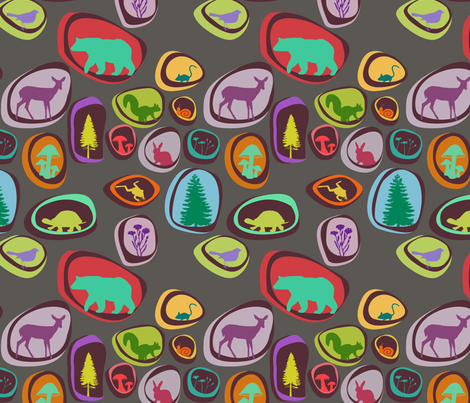 Forest Dots fabric by lauredesigns on Spoonflower - custom fabric