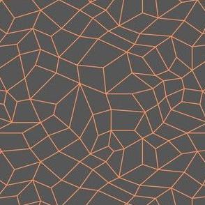 mesh grey and orange