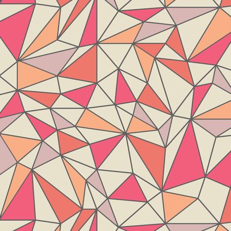 trianglescolorblock fabric by ravynka on Spoonflower - custom fabric