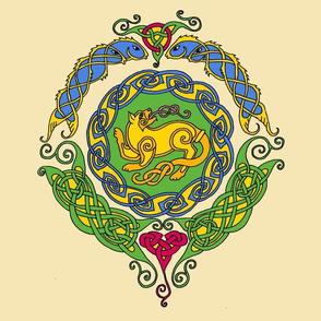 Celtic cat 8 mandala 1
