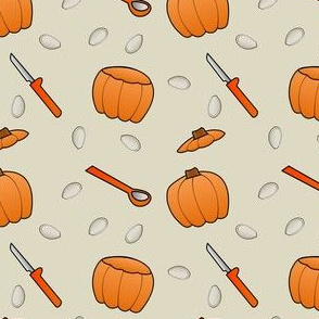 Pumpkin Carving - Beige