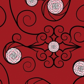 Stained Rose Burgandy