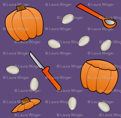 Pumpkin Carving - Purple