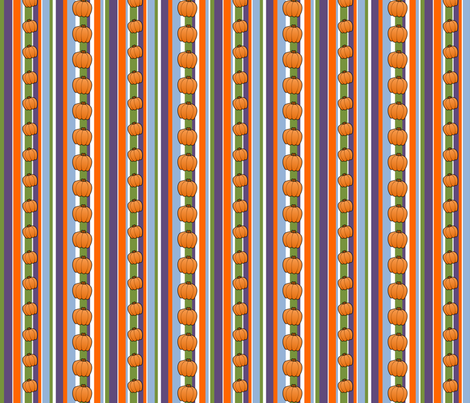 Pumpkin Carving - Stripes w/ Pumpkins fabric by lowa84 on Spoonflower - custom fabric