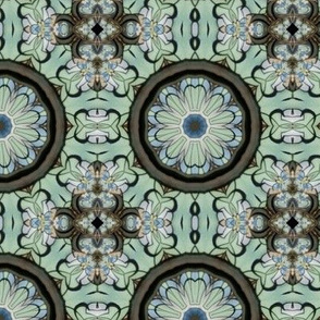 bluestainedglassflower