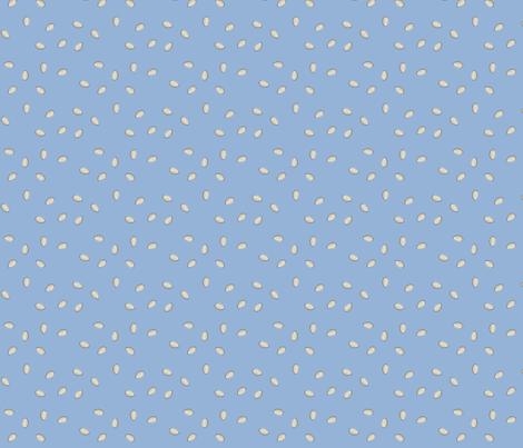 Pumpkin Seeds - Blue fabric by lowa84 on Spoonflower - custom fabric