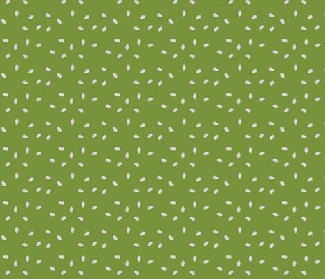 Pumpkin Seeds - Green fabric by lowa84 on Spoonflower - custom fabric