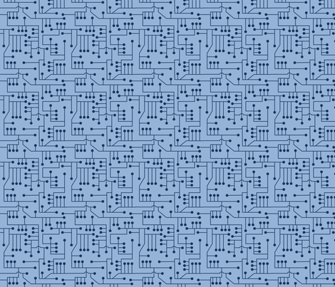 Circuits_in_blue_010 fabric by lowa84 on Spoonflower - custom fabric