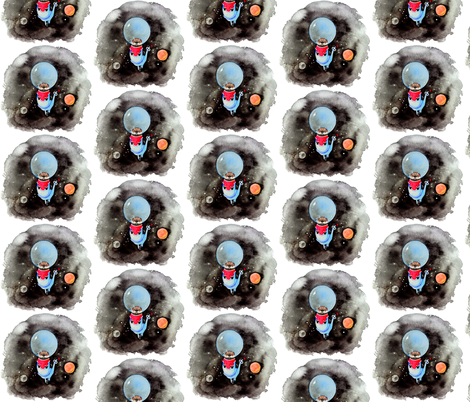 Space Otter fabric by jadegordon on Spoonflower - custom fabric