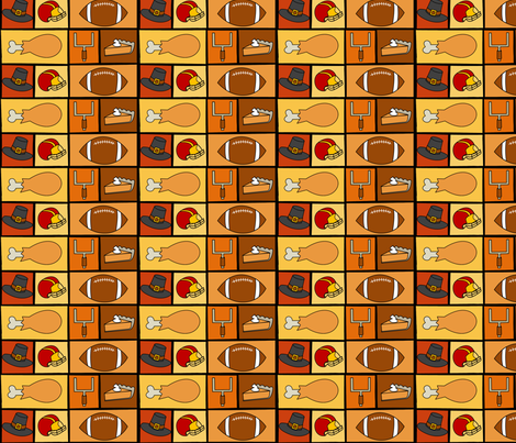 Thanksgiving and Football fabric by lowa84 on Spoonflower - custom fabric