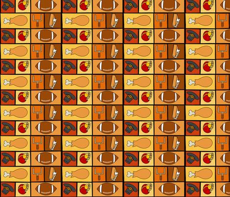 Thanksgiving & Football - Multidirectional fabric by lowa84 on Spoonflower - custom fabric